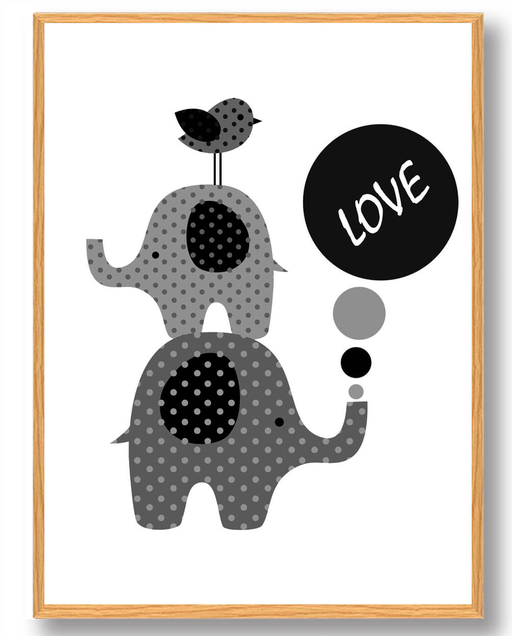 Elefanter LOVE - plakat