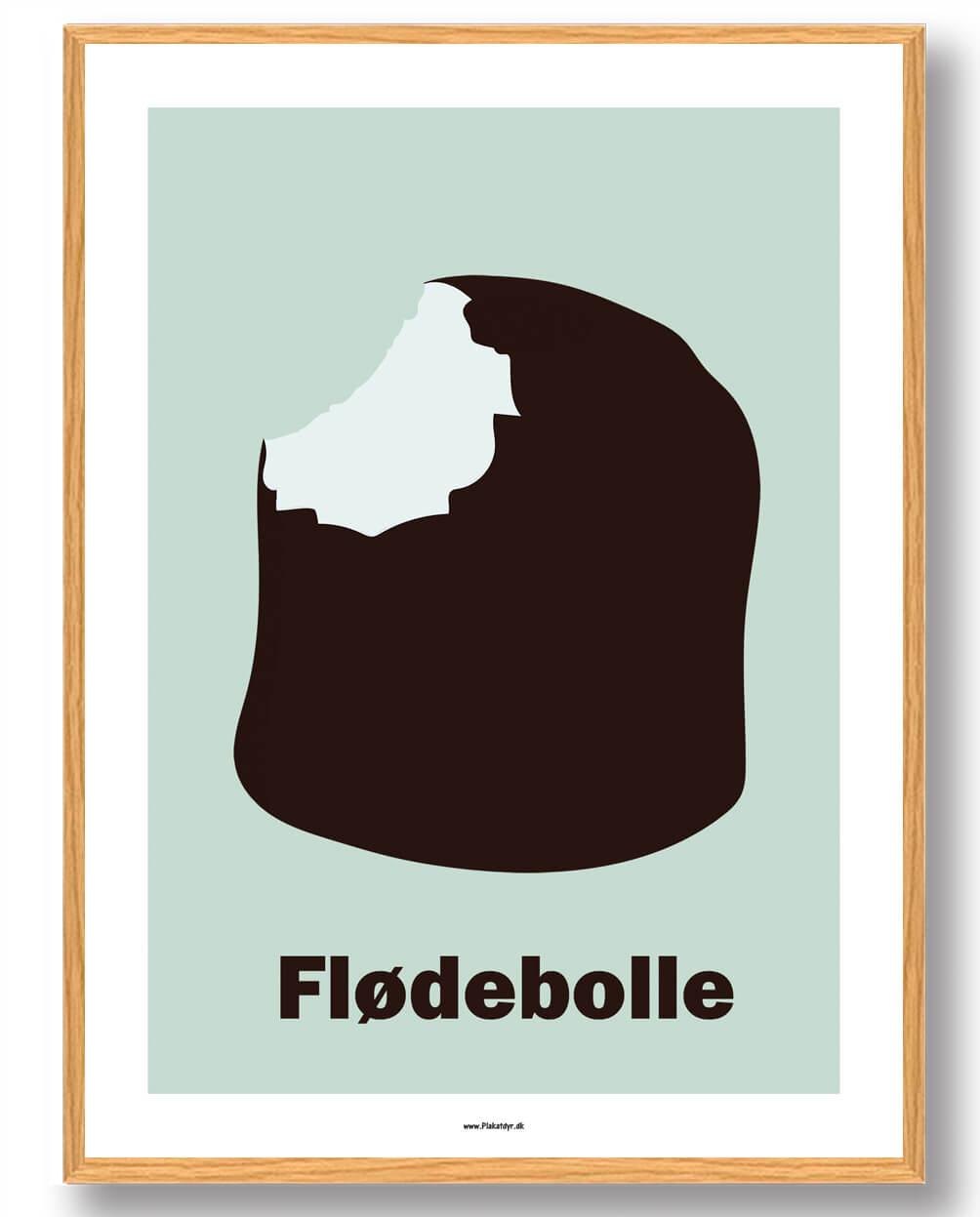 Flødebolle - plakat