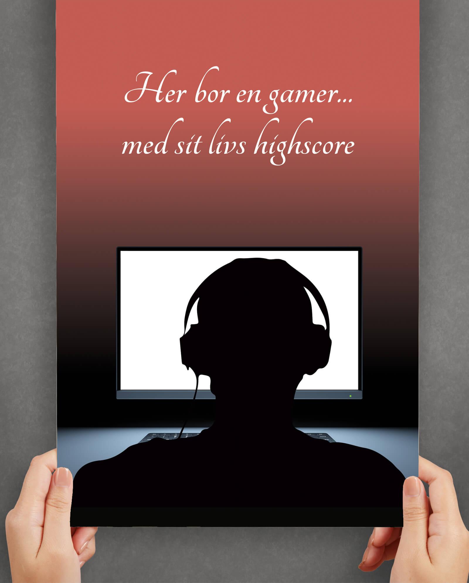 gamer-highscore-plakat