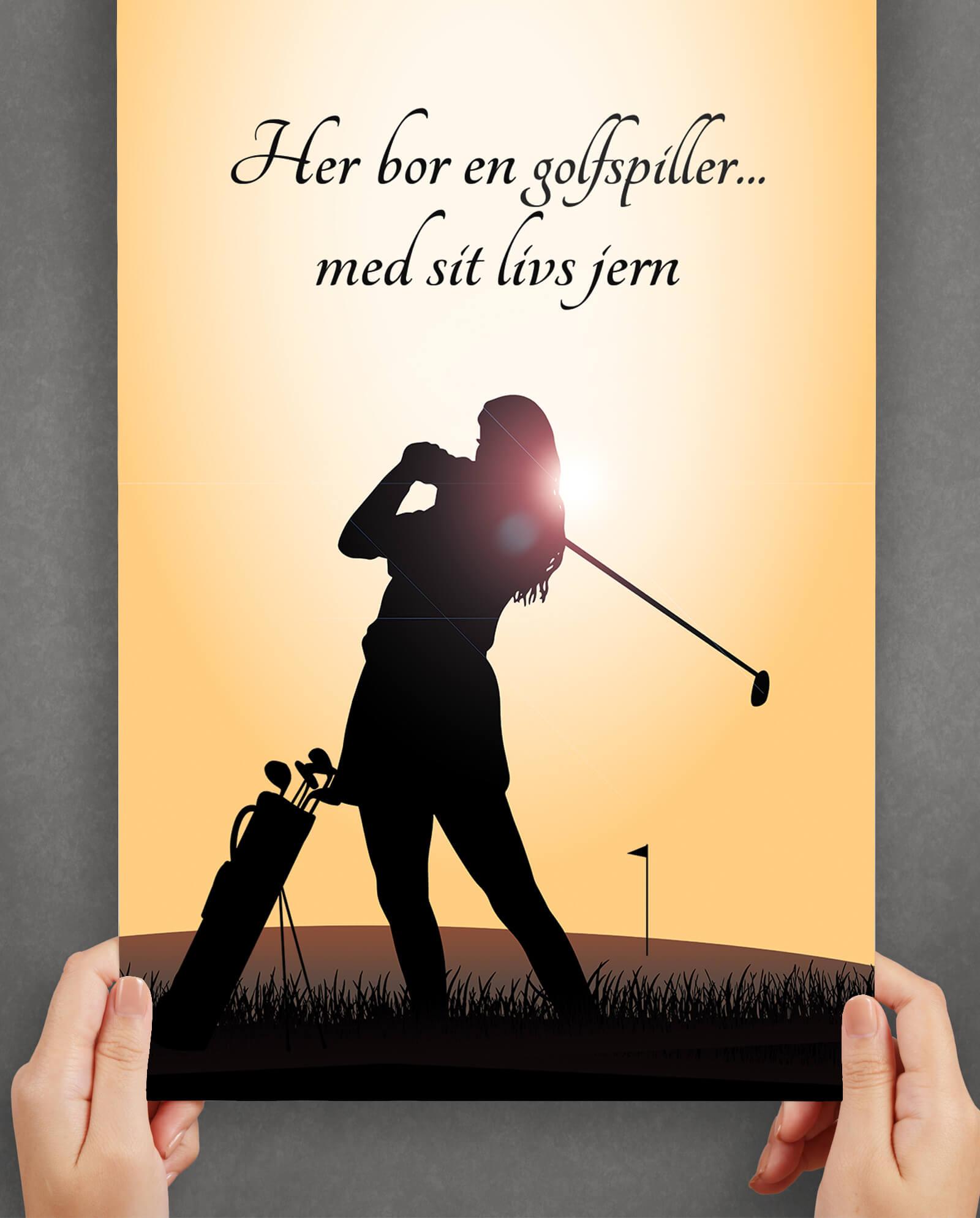 golf-sport-plakat