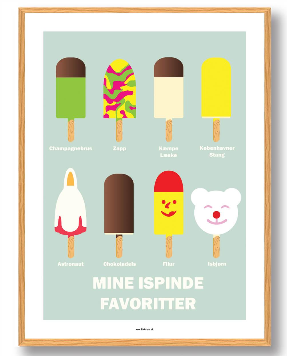 Mine ispinde favoritter - plakat