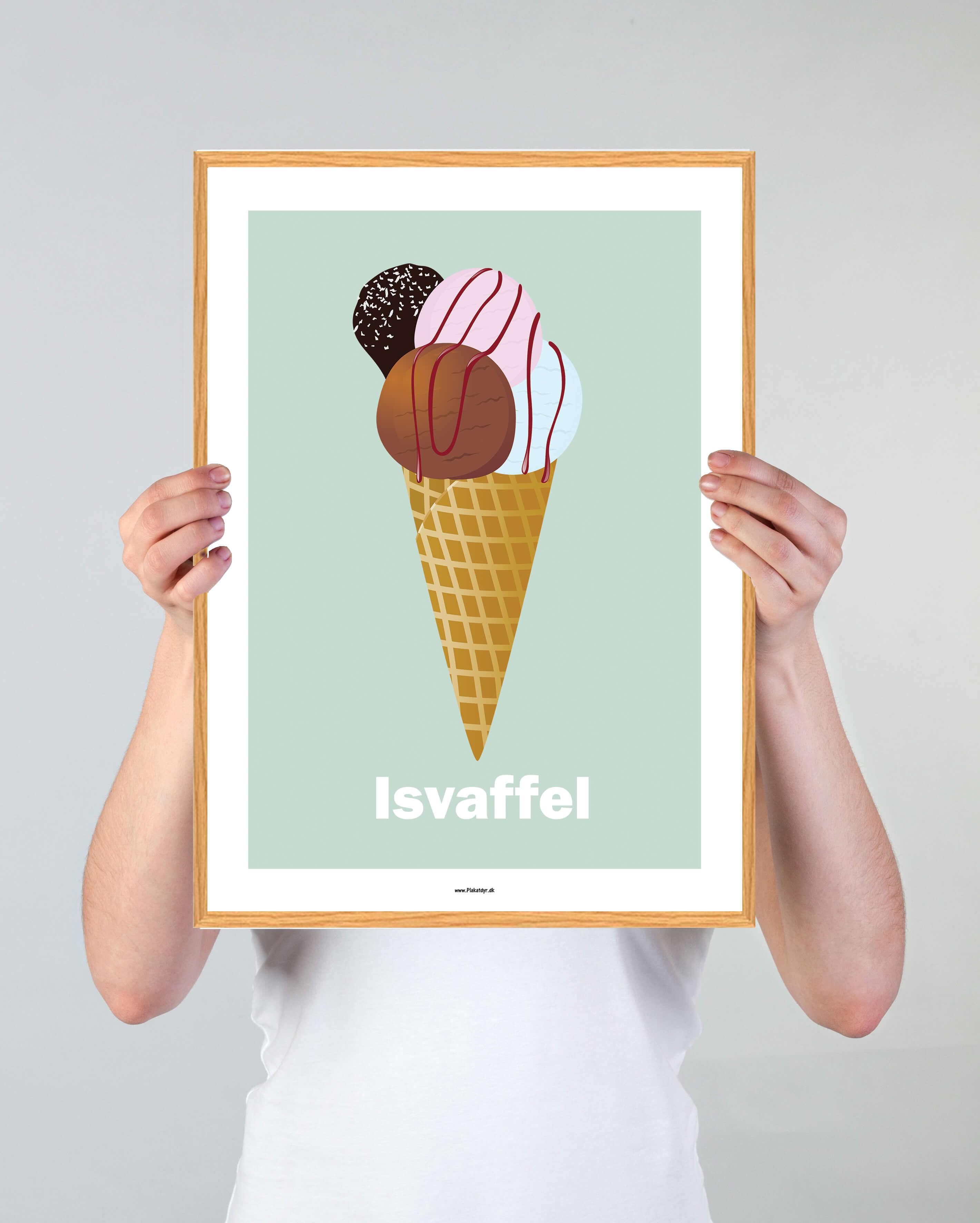 isvaffel-plakat-groen