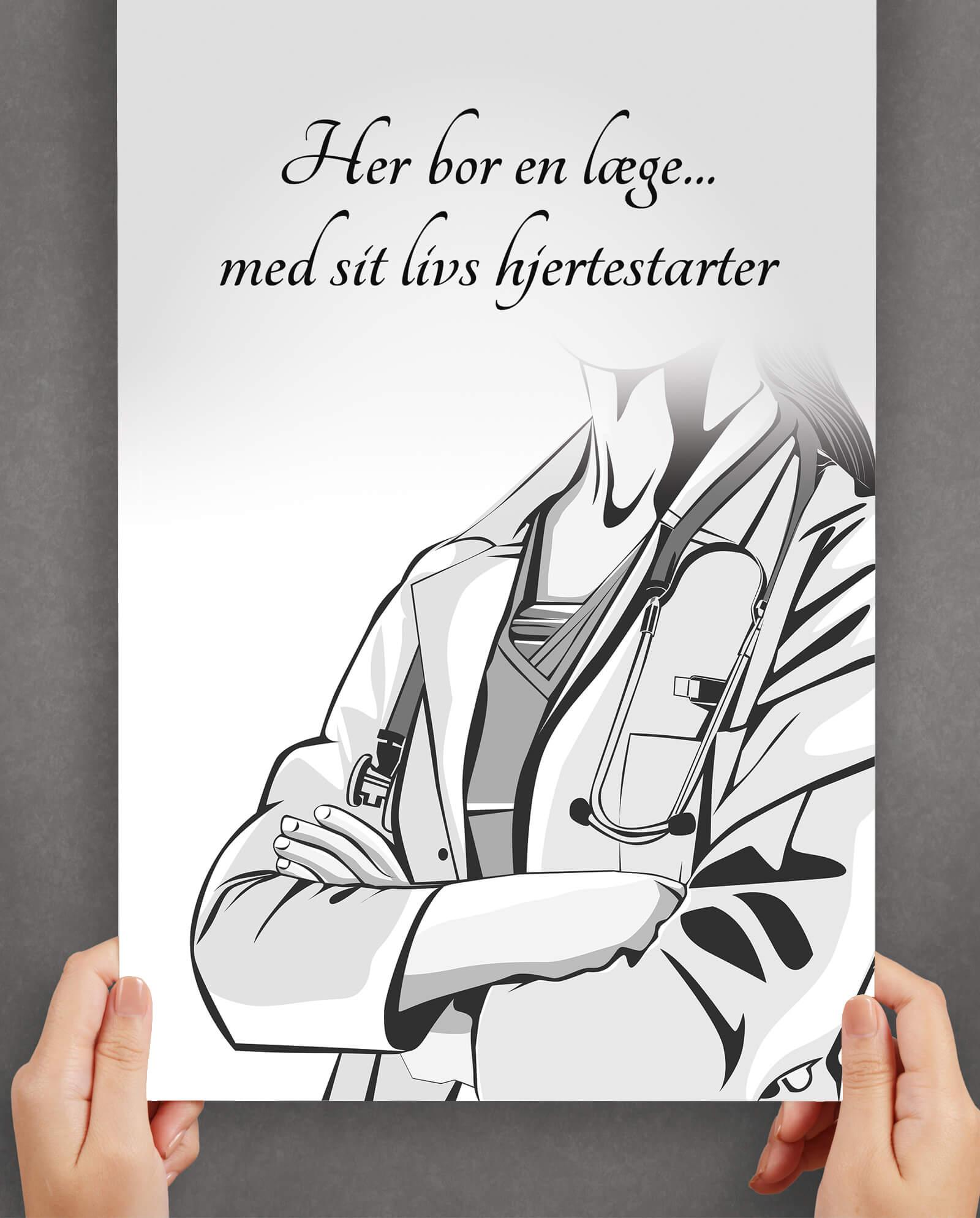 læge-plakat