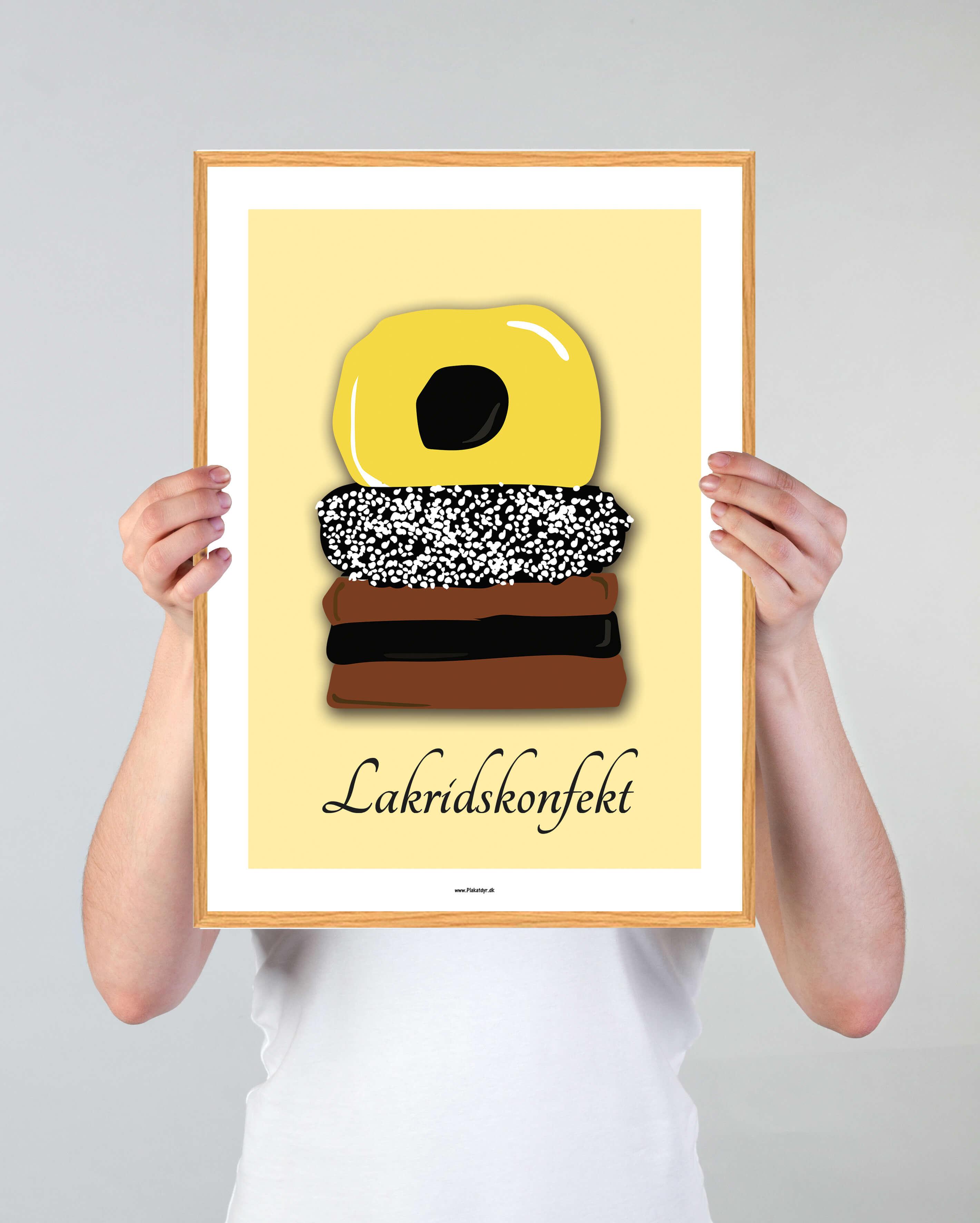 lakridskonfekt-gul-plakat