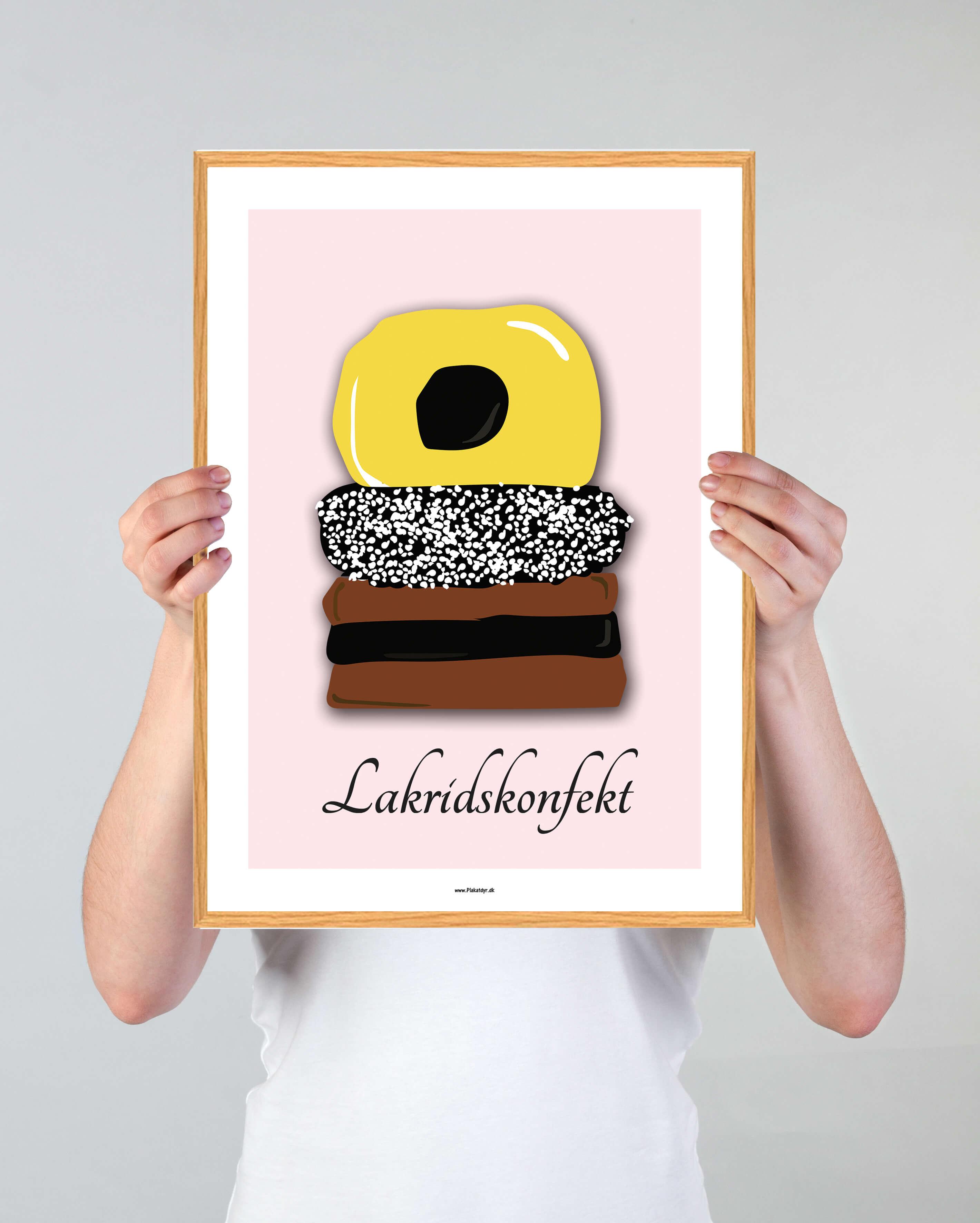 lakridskonfekt-roed-plakat