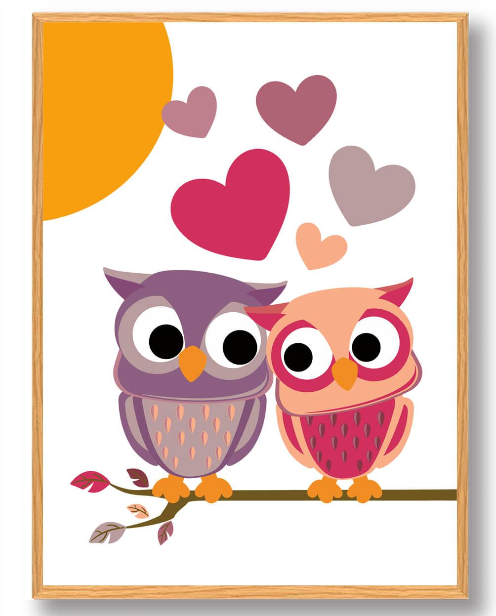 Kærlighedsugler - plakat