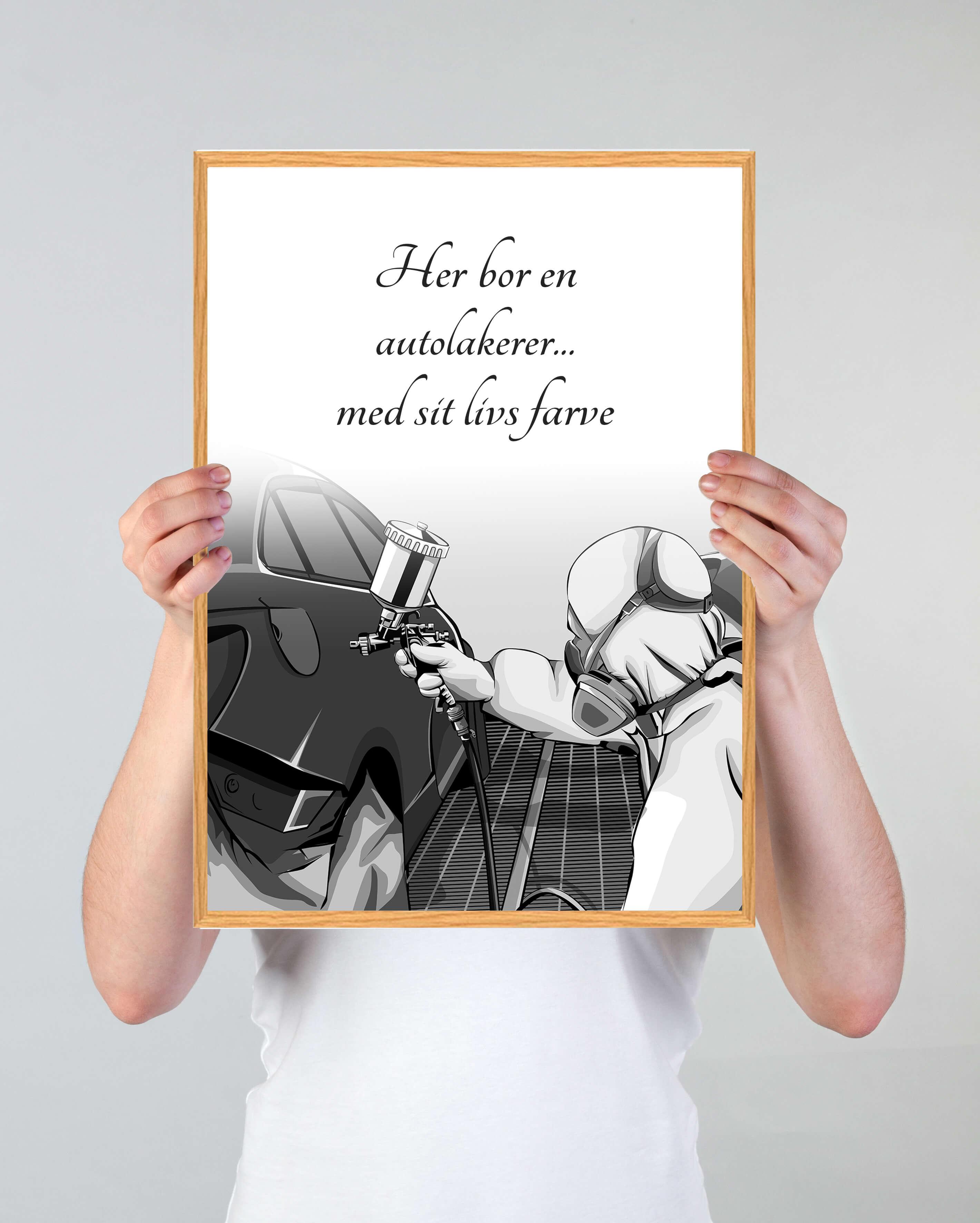 Autolakerer-gave-plakat
