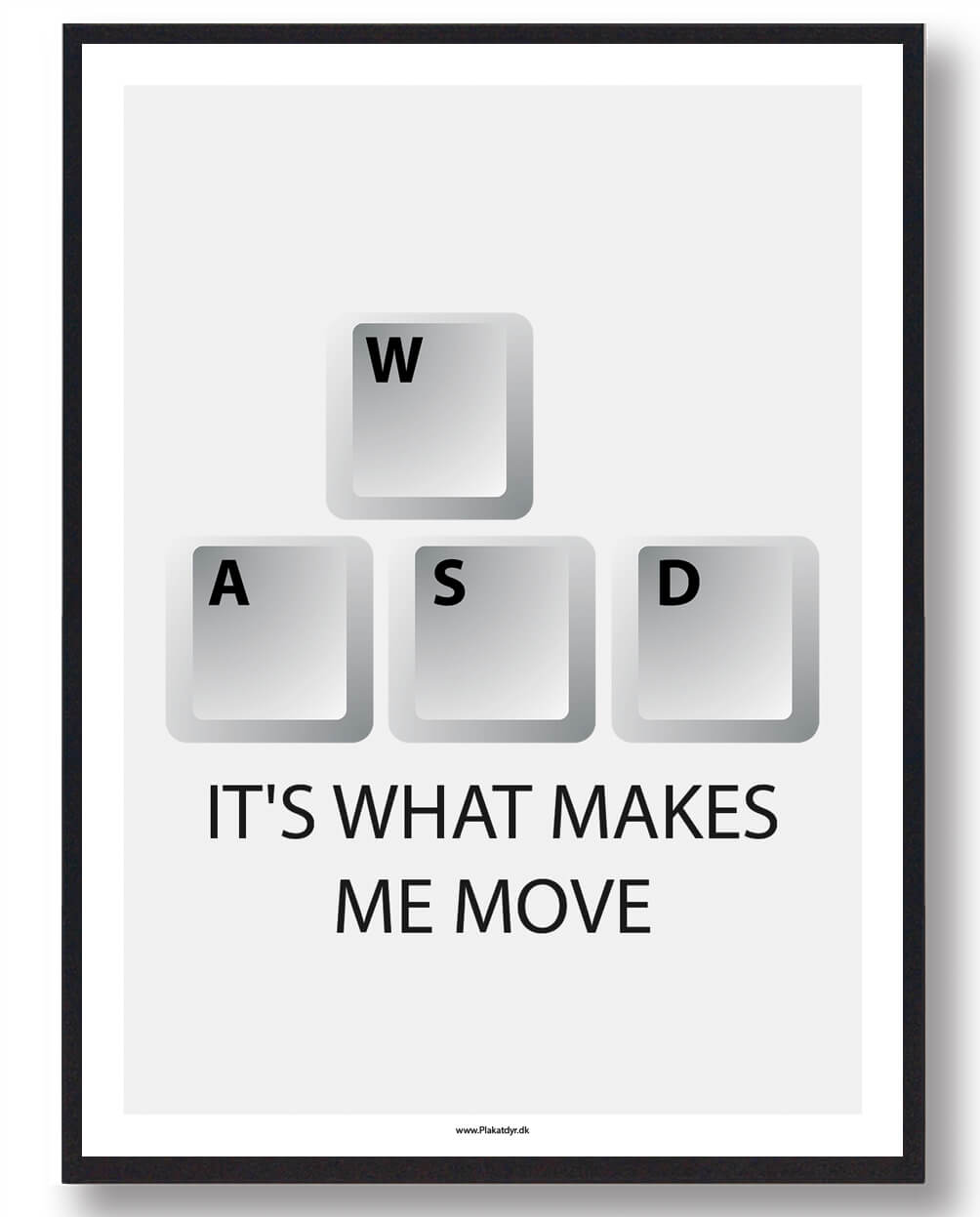 IT´S WHAT MAKES ME MOVE - gamerplakat