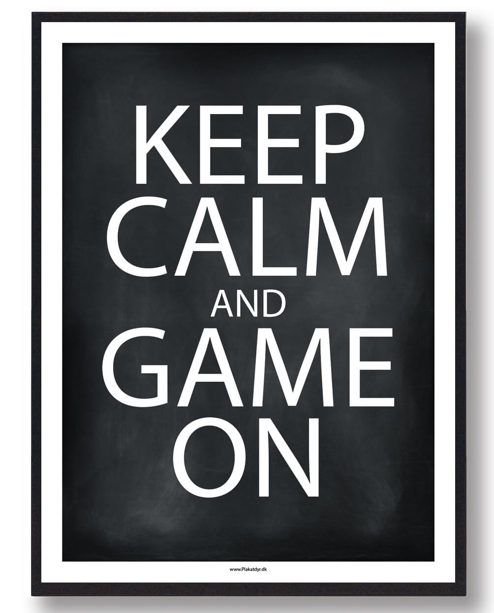 KEEP CALM and GAME ON - gamerplakat (sort)