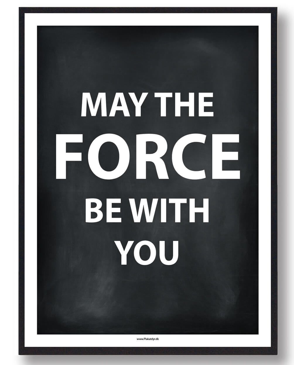 MAY THE FORCE BE WITH YOU - gamerplakat (sort)