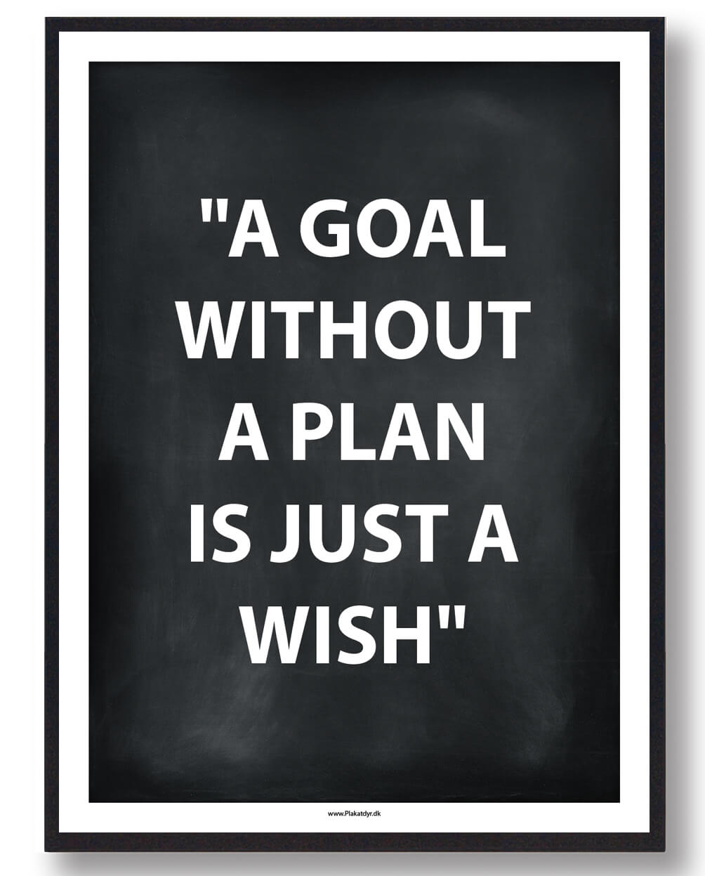 A GOAL WITHOUT A PLAN... - gamerplakat (sort)