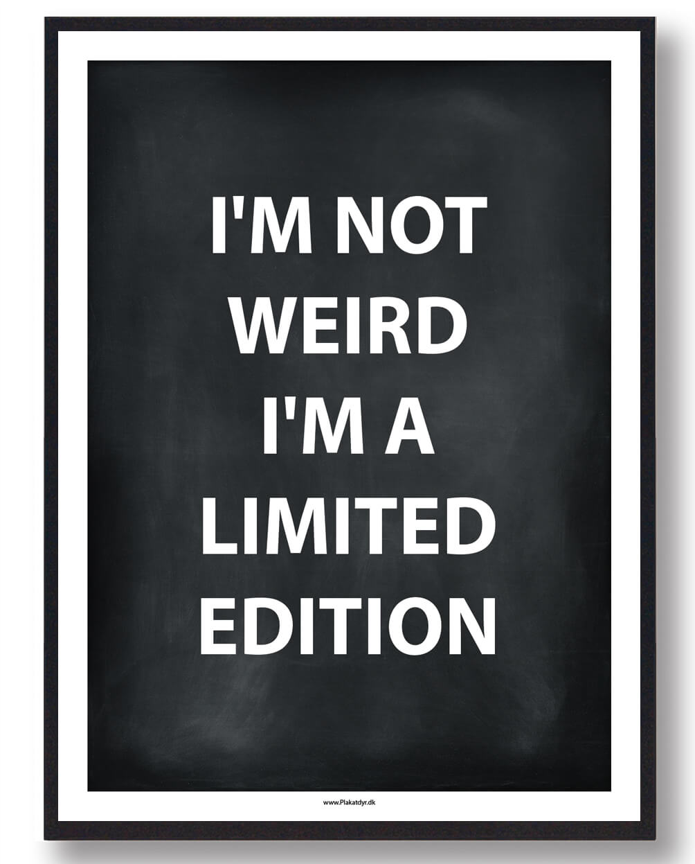 I´M A LIMITED EDITION - gamerplakat (sort)