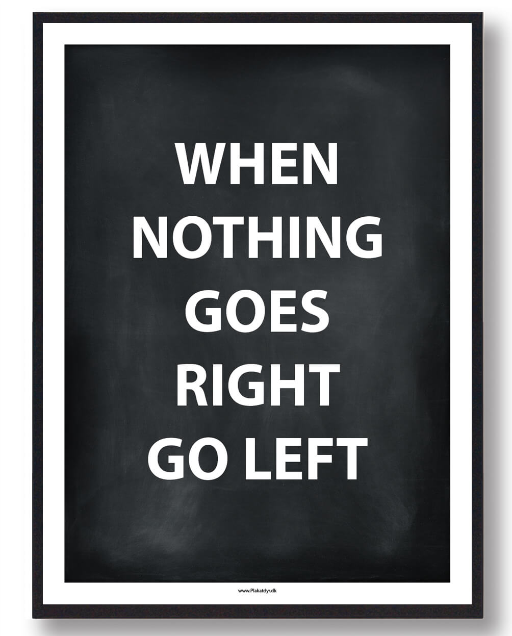 WHEN NOTHING GOES RIGHT... - gamerplakat (sort)