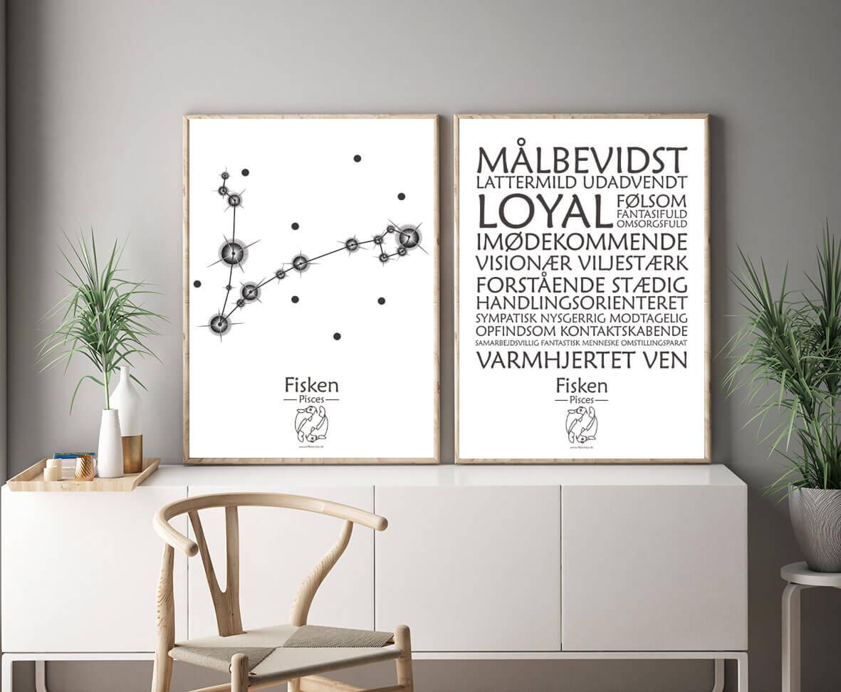 33720be45d0 Stjernetegn plakat - find alle 12 flotte stjernetegn her