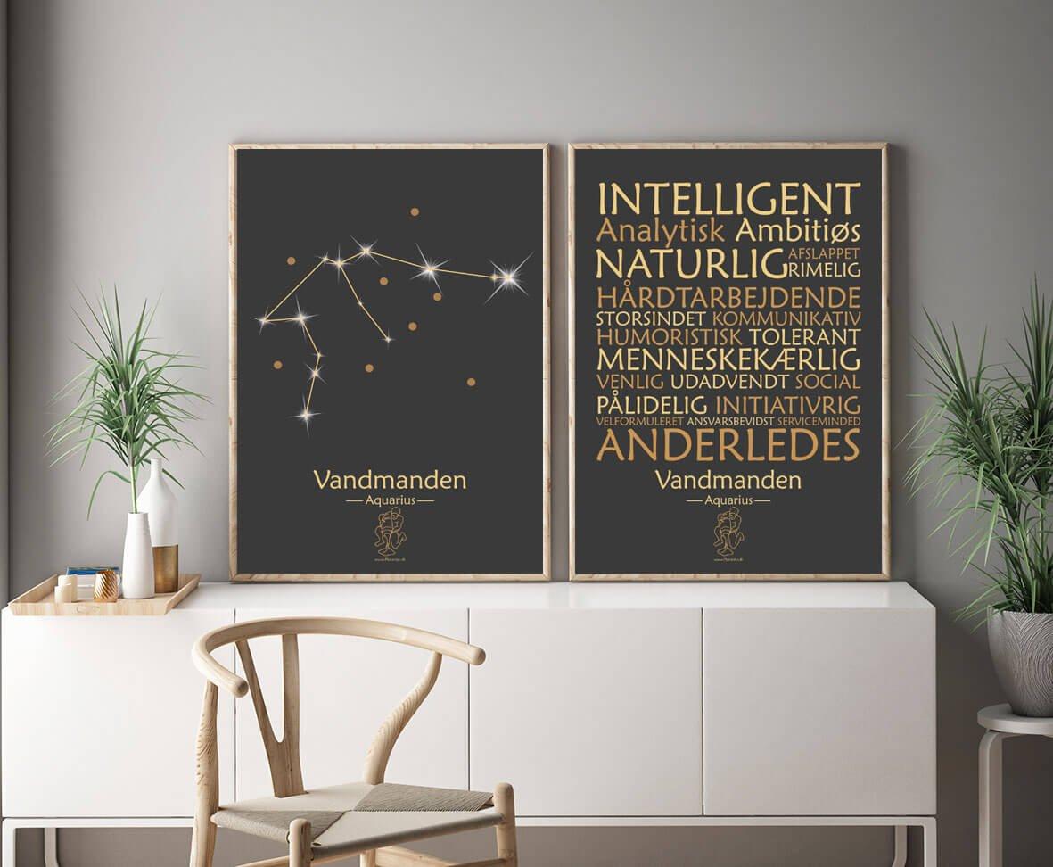 stjernetegn til væg