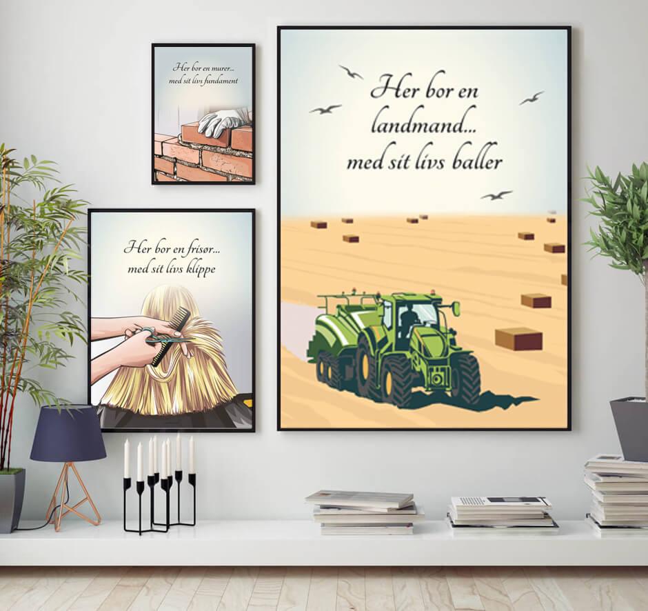 Modernistisk Stueplakater - 100+ plakater til stuen og hjemmet FJ-88