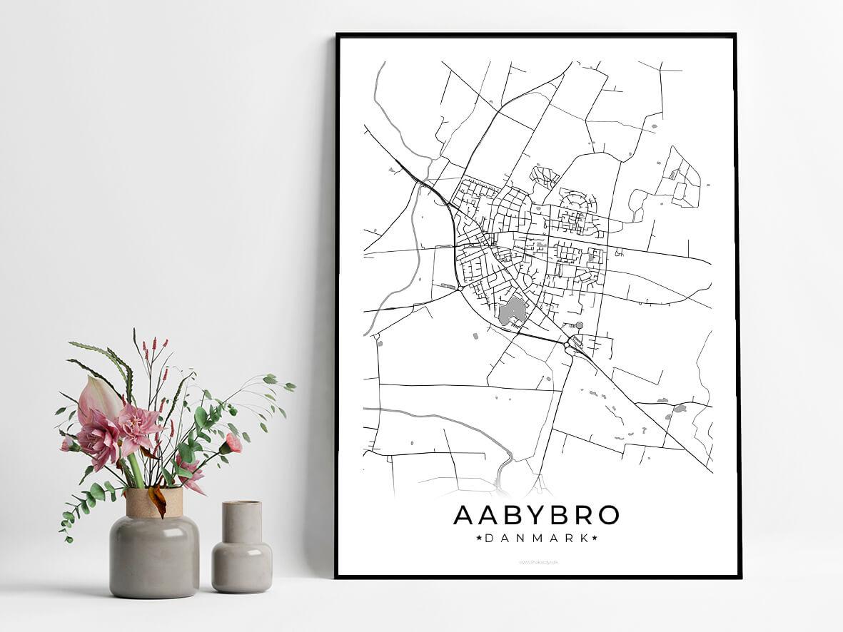 Aabybro-hvid-byplakat