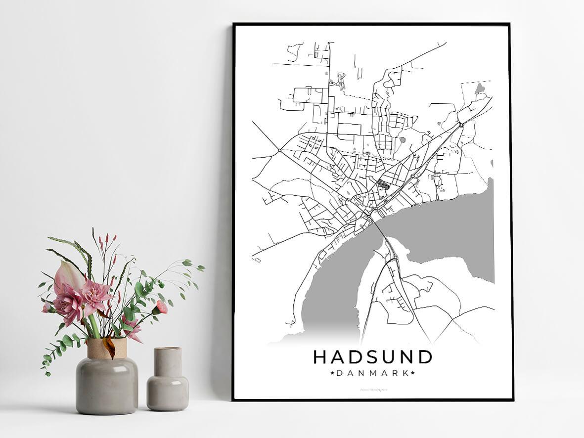 Hadsund-hvid-byplakat