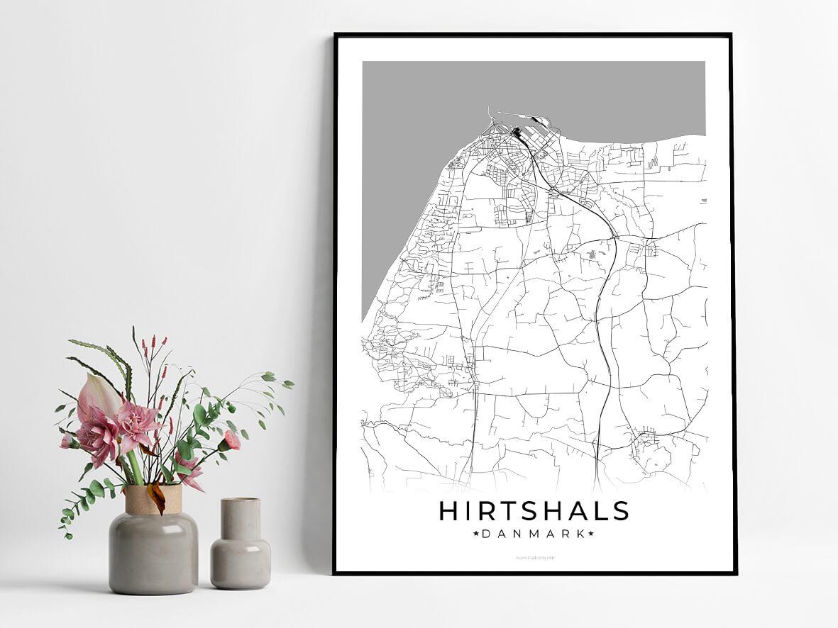 Hirtshals-hvid-byplakat