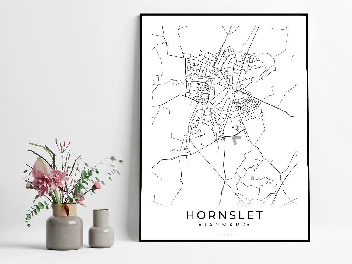 Hornslet-hvid-byplakat