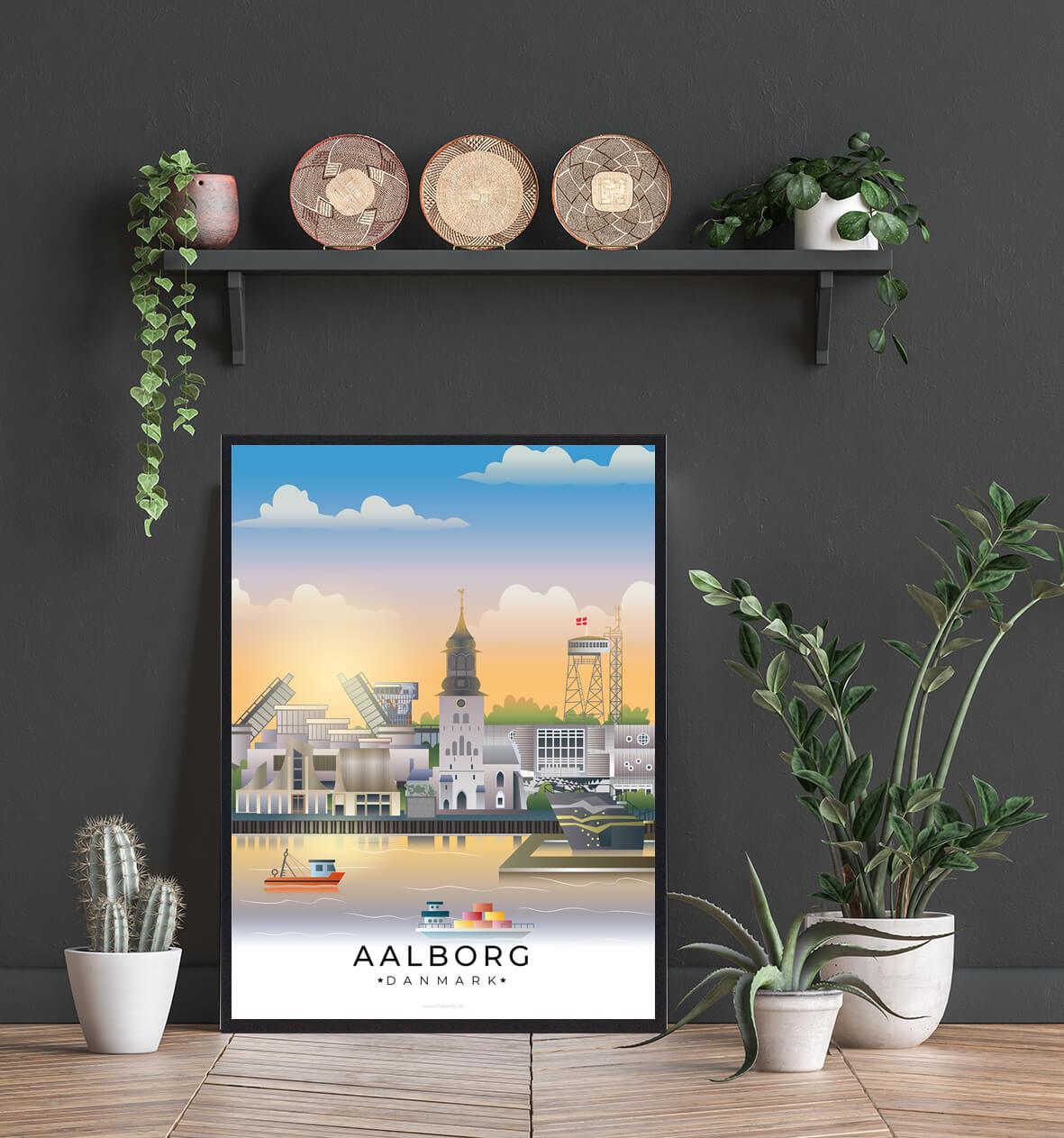Aalborg-byplakat