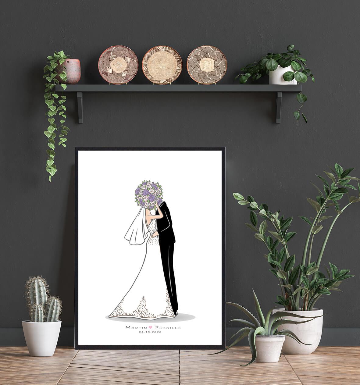 Brudepar-bryllupsplakat-1