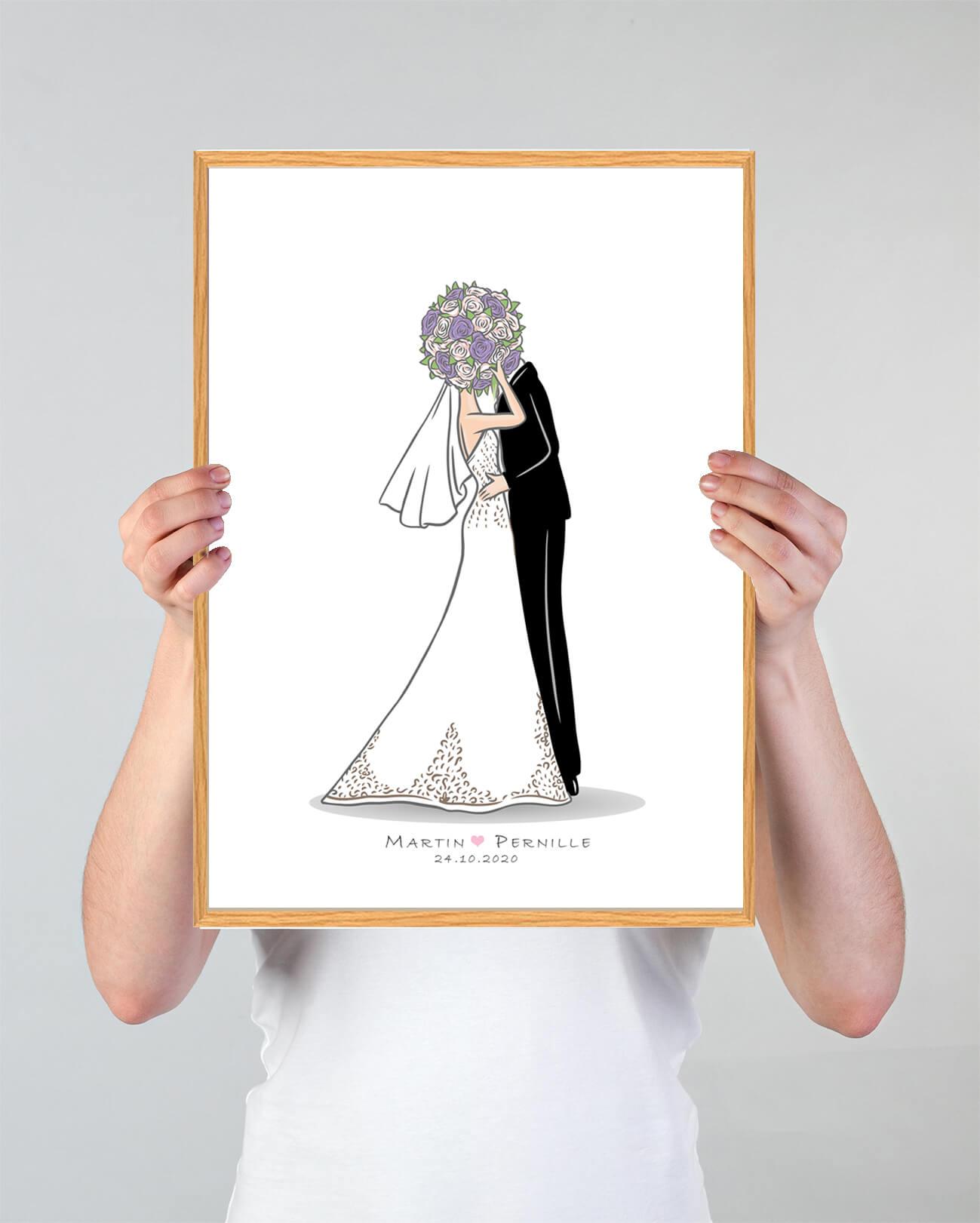 Brudepar-bryllupsplakat-3