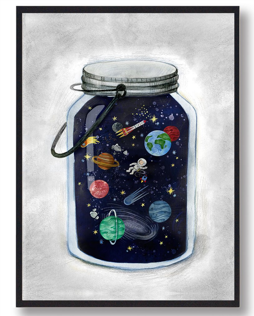 Space jar - plakat