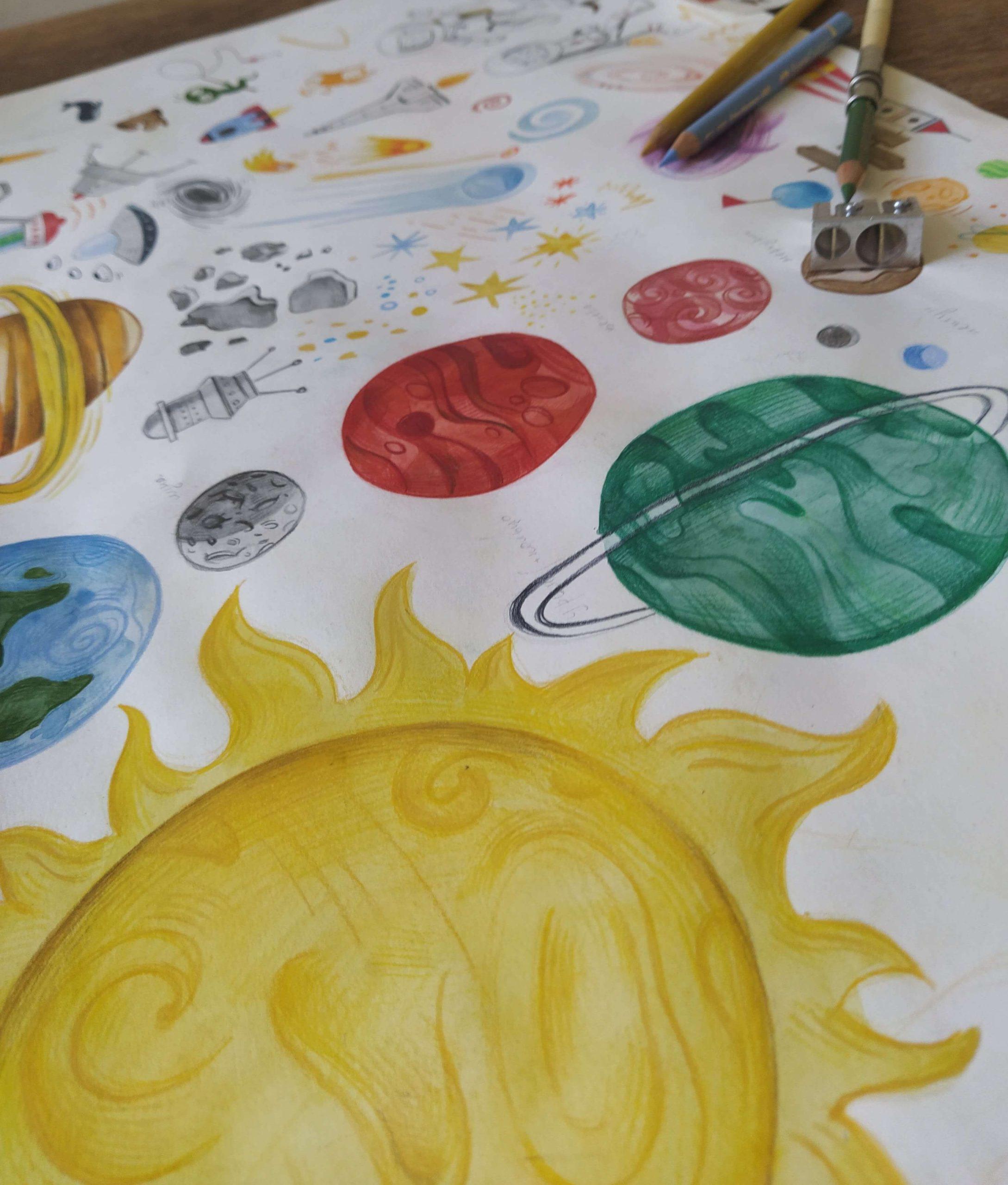 Haandtegnet solsystem-1