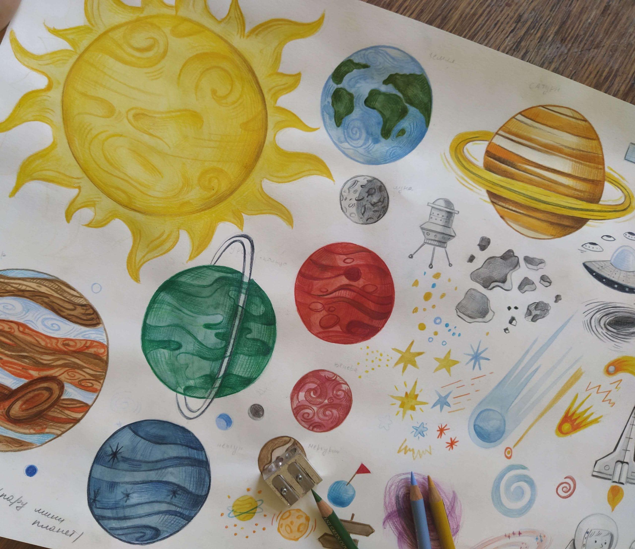 Haandtegnet solsystem-2