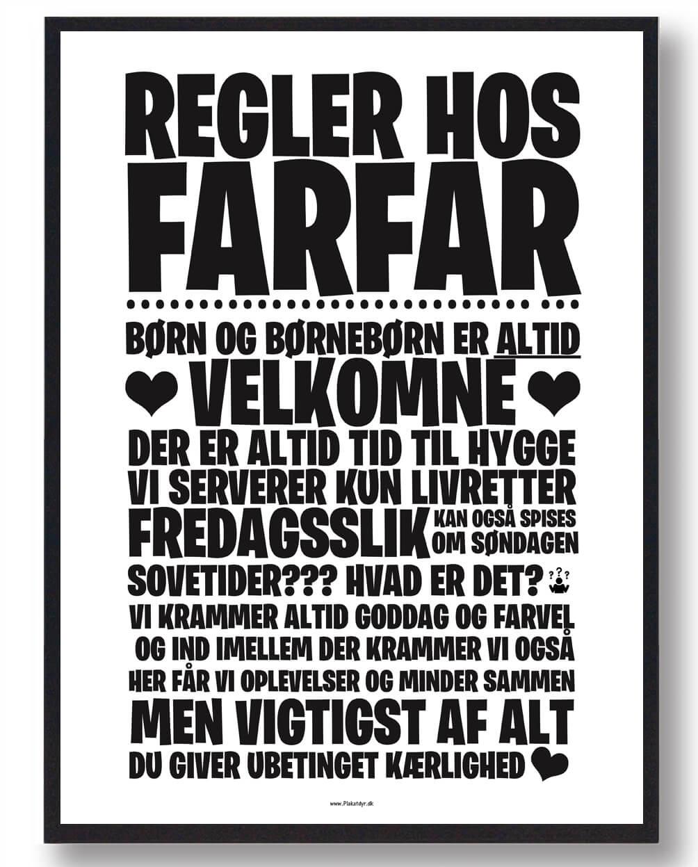 Regler hos Farfar - plakat