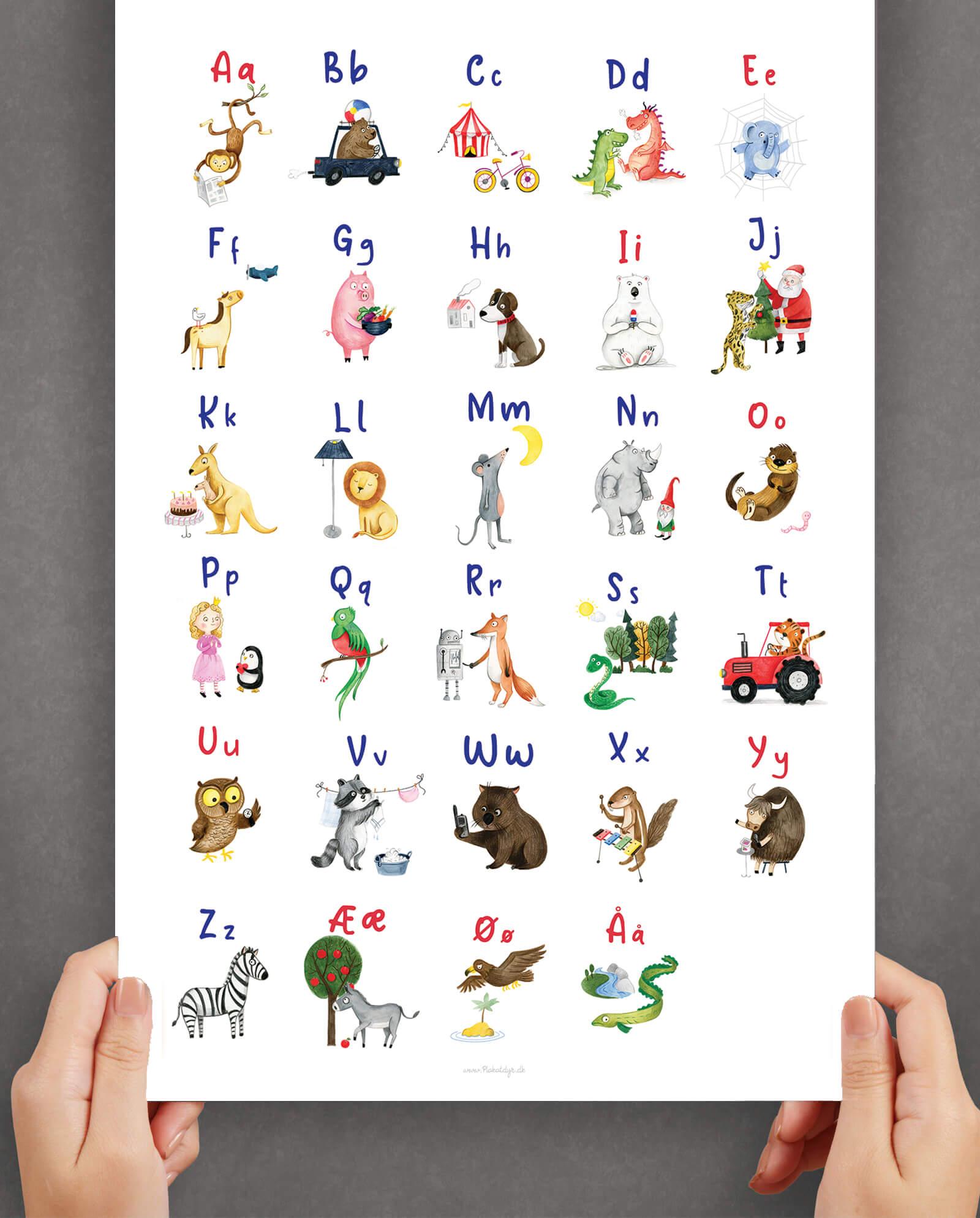Haandtegnet-ABC-plakat-billig