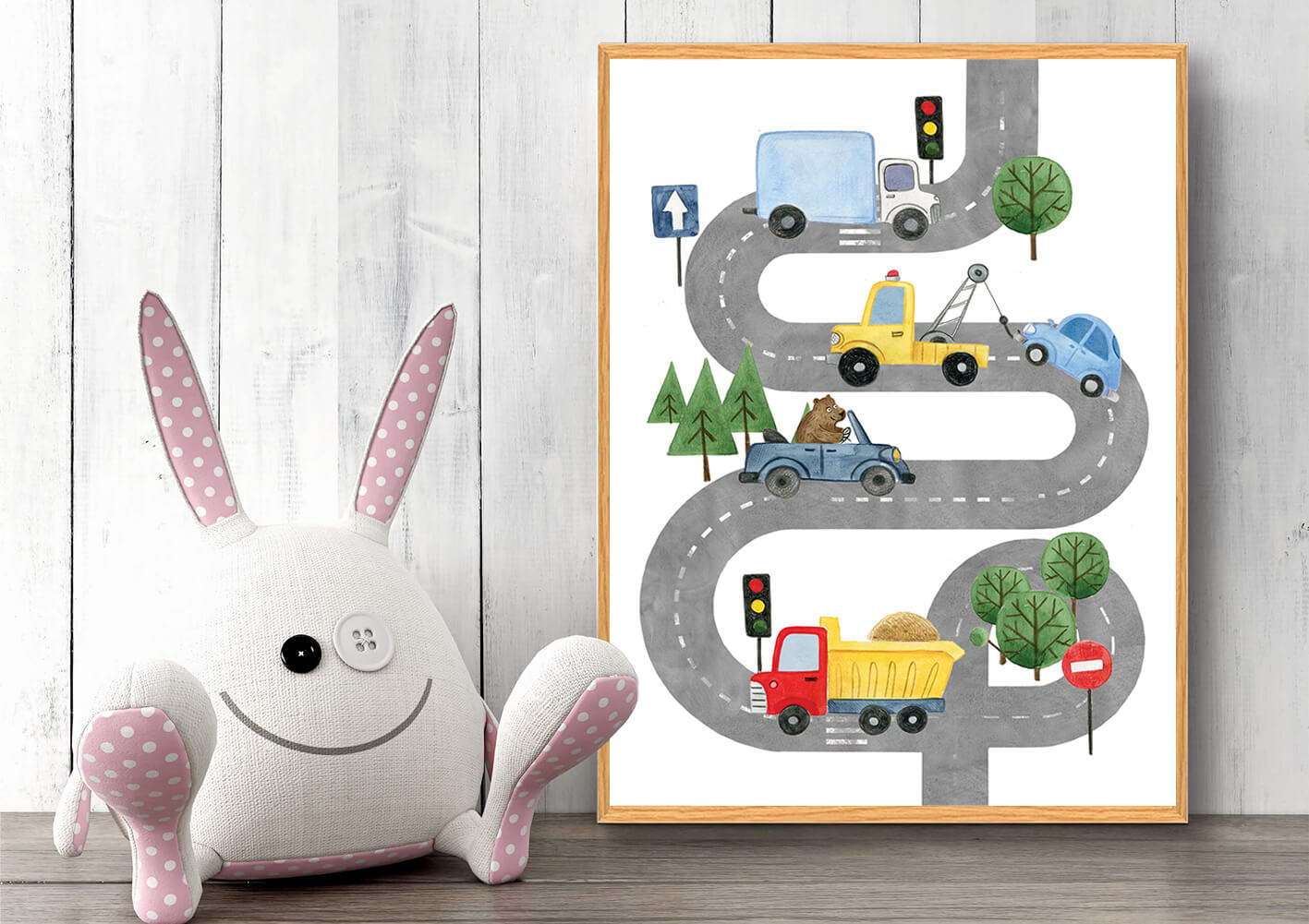 Bilplakat-veje-dyr-2