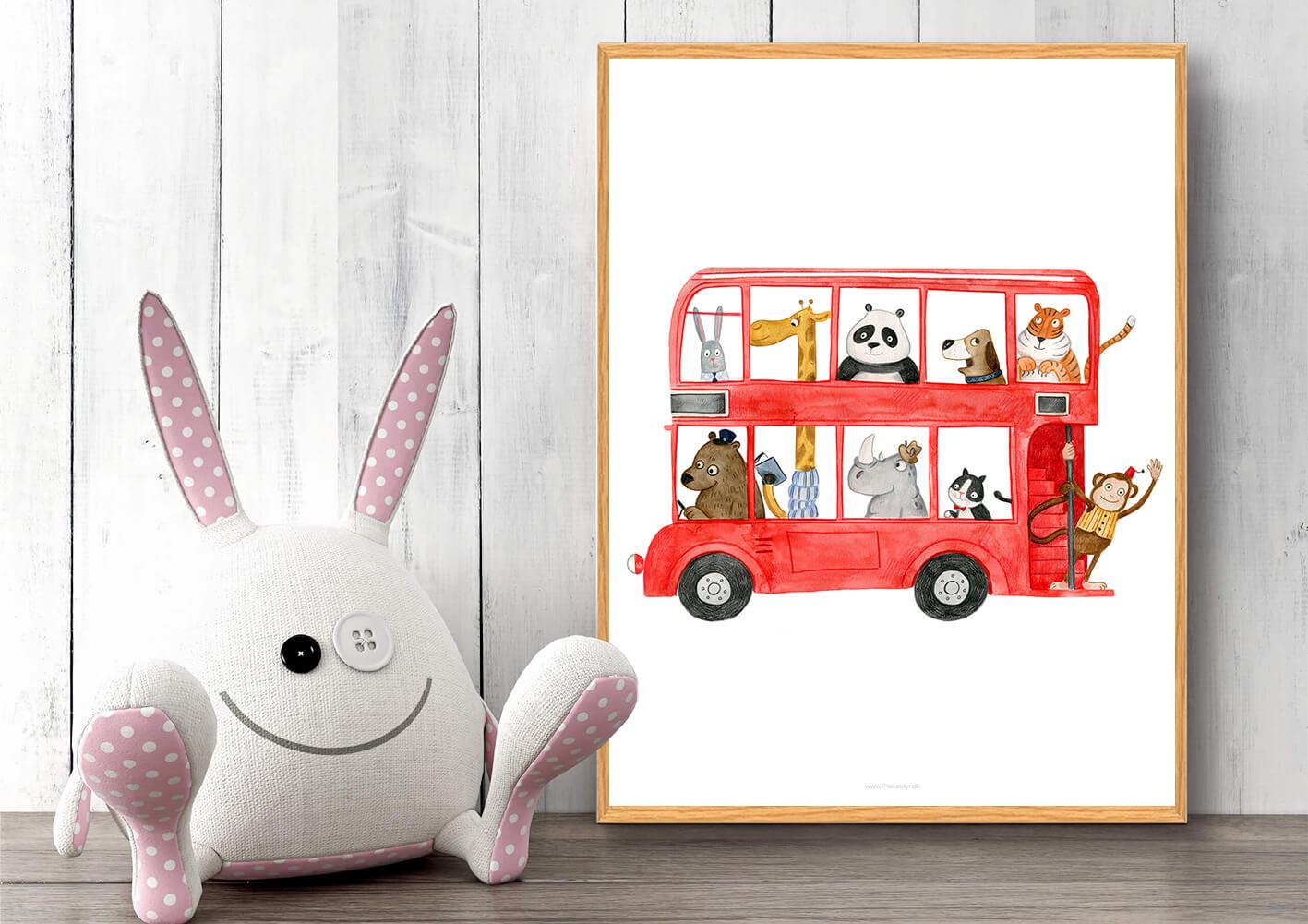 Busplakat-boernevaerelset-dyr-2