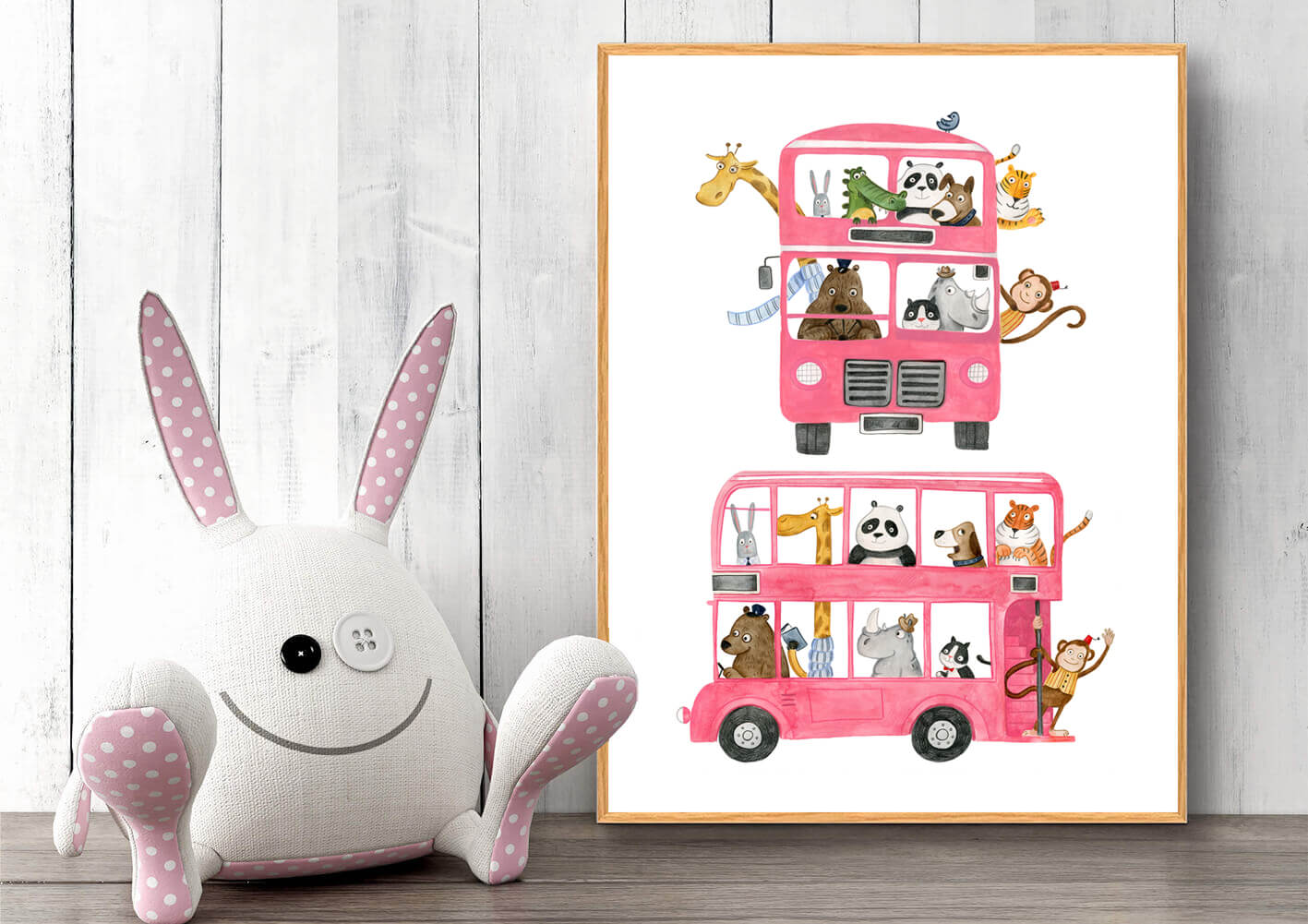 Bus-med-dyr-plakat-haandtegnet-1