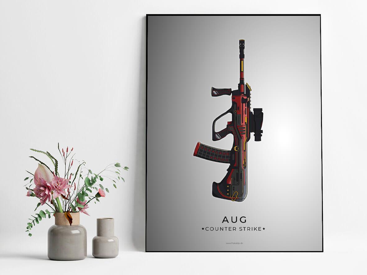 AUG-csgo-poster-grey-2