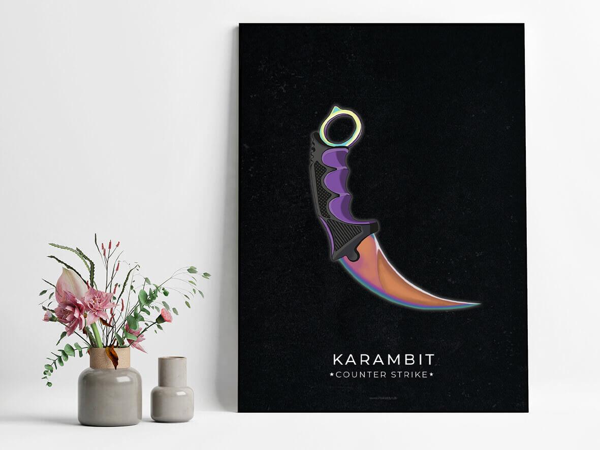 Karambit-csgo-poster-2