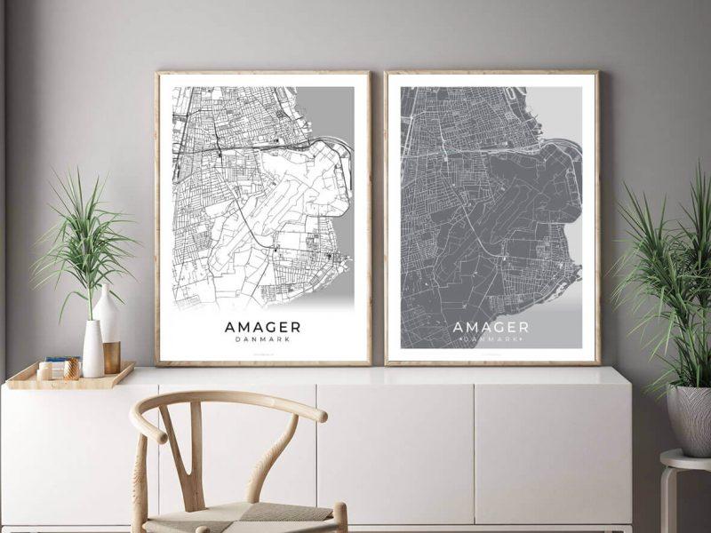 Amager-bykort-billig