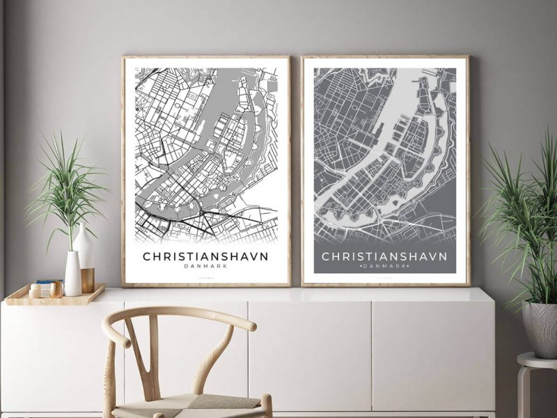 Christianshavn-bykort-billig