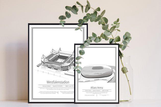 Tyske-fodbold-plakater-stadion